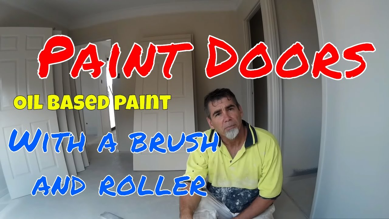 How To how to paint a door with a roller images : Glossing colonial doors with a brush and roller - YouTube