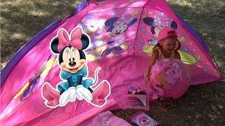Минни Маус Палатка Тент Minnie Mouse Распаковка сюрпризов Надувной Мяч Минни Маус Шопкинсы