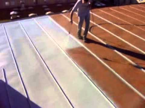 Metal Roof Coating Wmv Youtube
