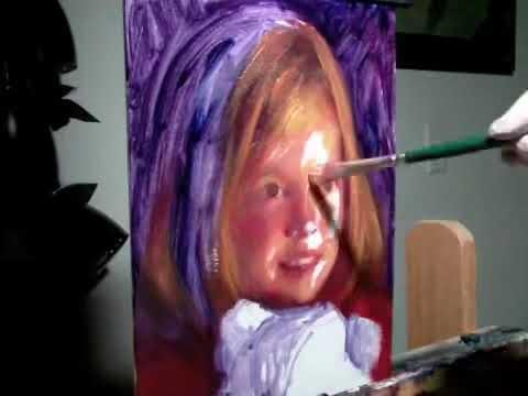 Dạy vẽ tranh chân dung sơn dầu phần 1