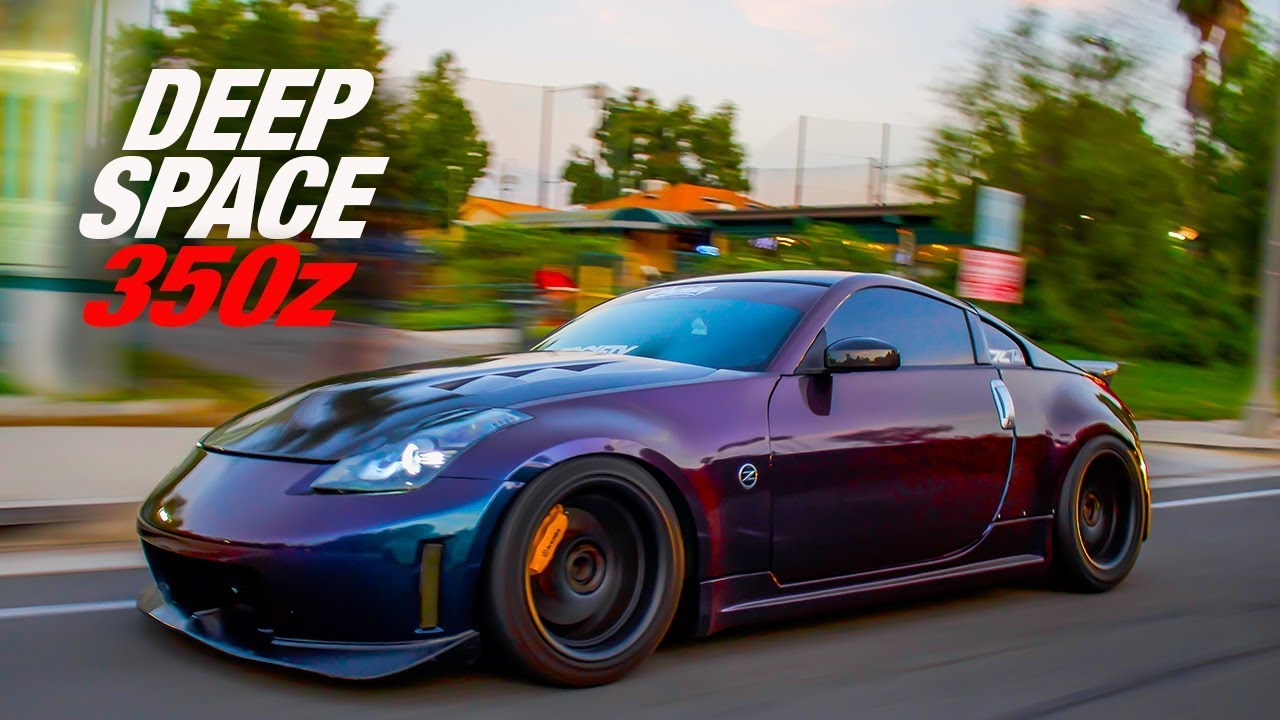 350z Vinyl Wrapped In Deep Space Lowtek Z33 Youtube