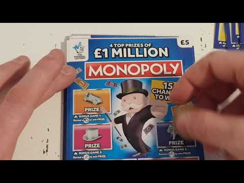 Full Packs! Monopoly And 250,000 Red. National Lottery ASMR