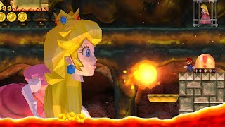 New Super Mario Bros. Wii - Final Boss Evil Peach & Ending