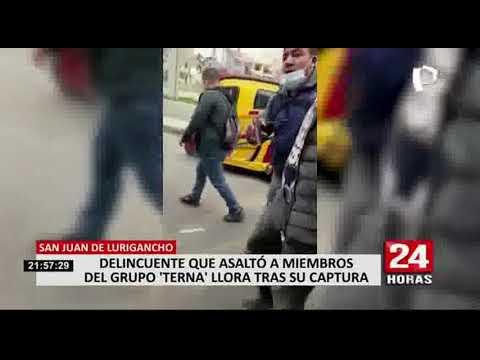 Download Delincuente intentó asaltar a agentes terna y llora luego de su captura