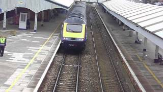 class 43*** and 43022 First Great Western leaving Truro train station