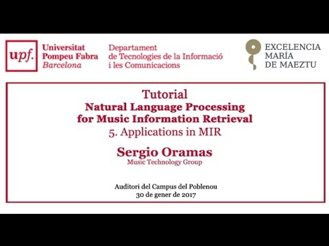 Tutorial - Natural Language Processing for Music Information Retrieval. Applications in MIR