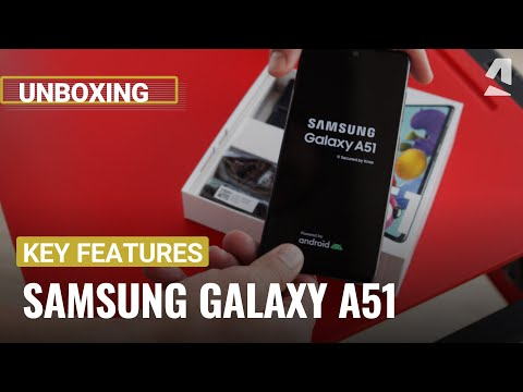 Samsung Galaxy A51 unboxing and key features