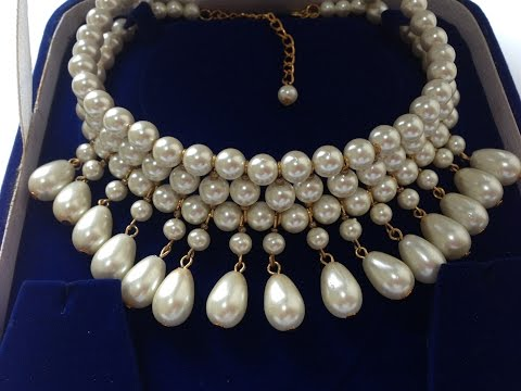 DIY beaded  necklace | jewelry making | How to make necklace |  pearl jewelry