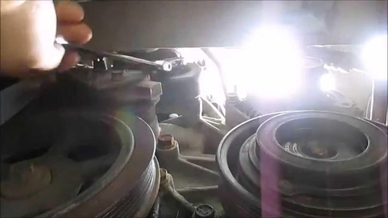 Idler And Belt Tensioner Replacement Dodge Caravan Youtube