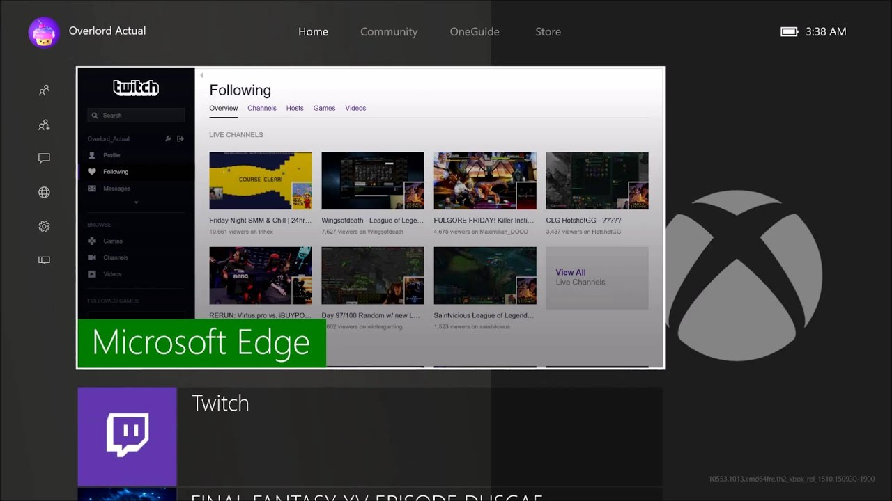 Checking Out YouTube Amp Twitch On Microsoft Edge Browser On