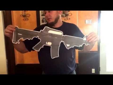 Cool AR-15 stickup poster for gun enthusiasts.