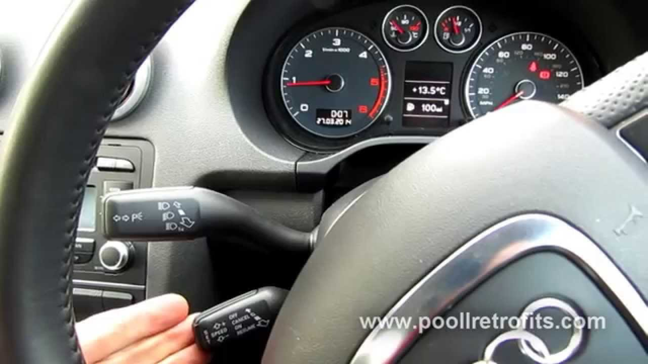 Audi A3 8p 2005 2013 Oem Cruise Control Retrofit Youtube
