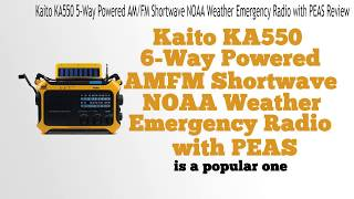 kaito ka550 5-way powered am/fm shortwave noaa weather emergen…
