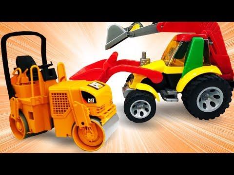 видео: Игрушечные машины помощники. Видео для детей про рабочие машинки