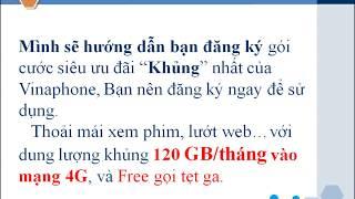 Nhận Miễn phí 120GB/tháng data 4G Vinaphone