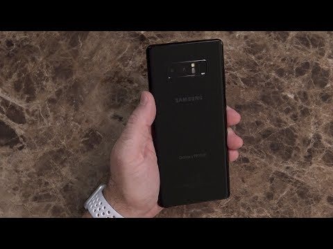 Samsung Galaxy Note 8 Midnight Black Unboxing And Walkthrough