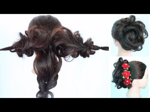 Super Messy Bun Trick    Messy Updo Hairstyle    Juda Hairstyle    Updo Hairstyles    Hairstyle