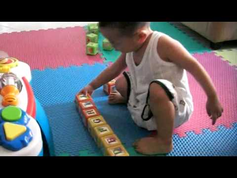 Adam @ 23 months: master of the alphabet