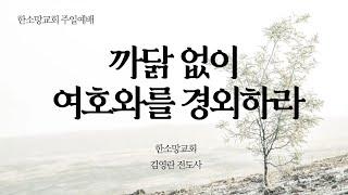까닭 없이 여호와를 경외하라   김영란 전도사