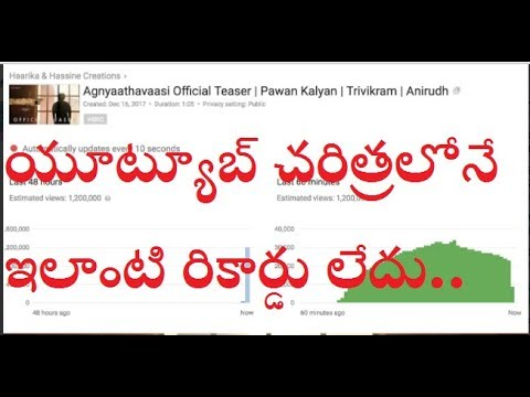 Agnyaathavaasi Official Teaser Records ||...