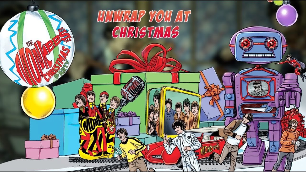 Monkees Christmas Party.The Monkees Unwrap You At Christmas Official Lyric Video