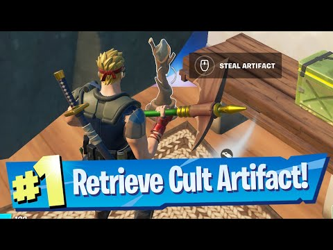 Retrieve the Cult Artifact from the Spire for Raz Location - Fortnite