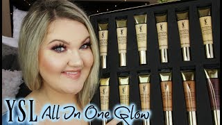 YSL ALL IN ONE GLOW TINTED MOISTURIZER REVIEW | ALL 12 SHADES