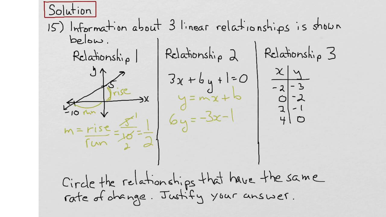 Eqao grade 9 academic math 2015 open response question 15 solution eqao grade 9 academic math 2015 open response question 15 solution youtube robcynllc Choice Image