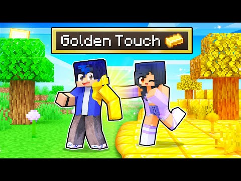 Minecraft BUT What You Touch TURNS TO GOLD!