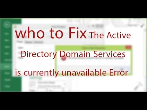 active directory domain services is currently unavailable windows 7 printer