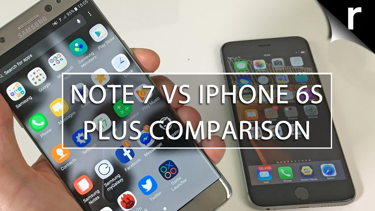Galaxy Note 7 Vs Iphone 6s Plus Phablet Face Off Youtube