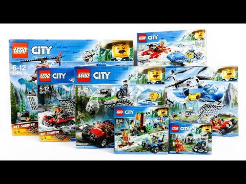 ALL LEGO City Mountain Police Compilation/Collection Speed Build