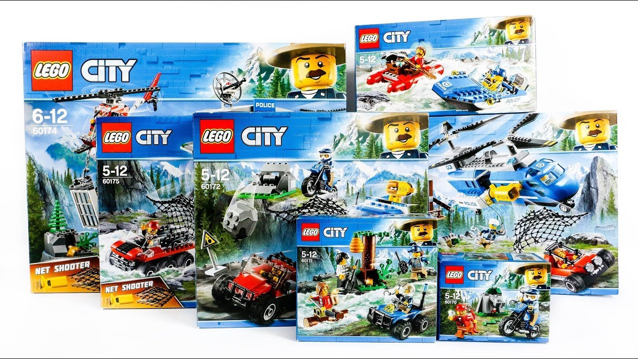 All Lego City Mountain Police Compilation Speed Build Construction