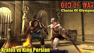 Kratos Melawan King Persian Gameplay God Of War : Chains Of Olympus | Kratos Vs King Persian GOW