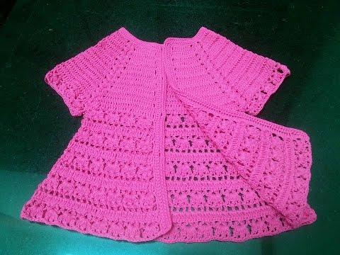 [Crochet sweater baby] Hướng dẫn móc áo khoác len cho bé #2