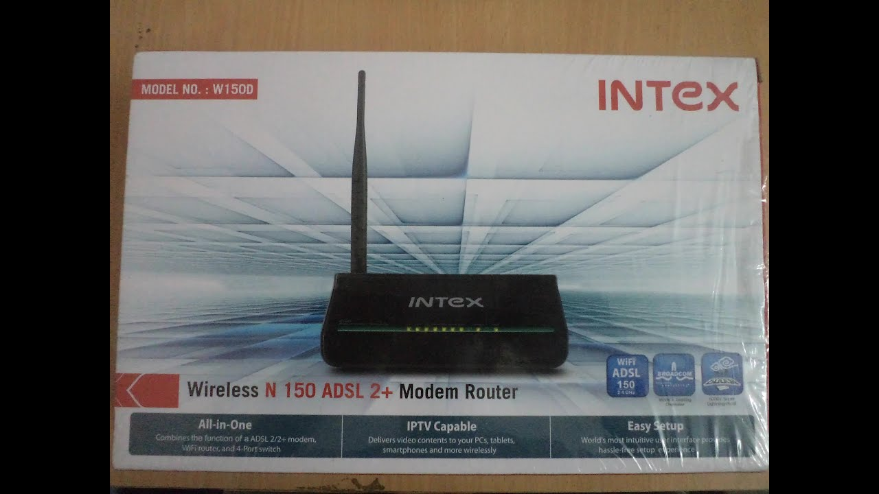 Intex w150d adsl2 modem unboxing and review youtube intex w150d adsl2 modem unboxing and review greentooth Images