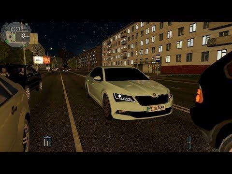 City Car Driving - Skoda Superb B8 L Normal Driving | 60FPS | G29