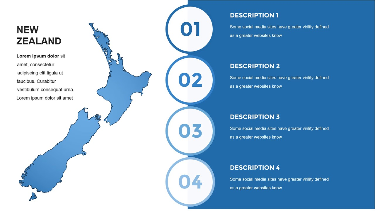 New Zealand Powerpoint Maps Templates