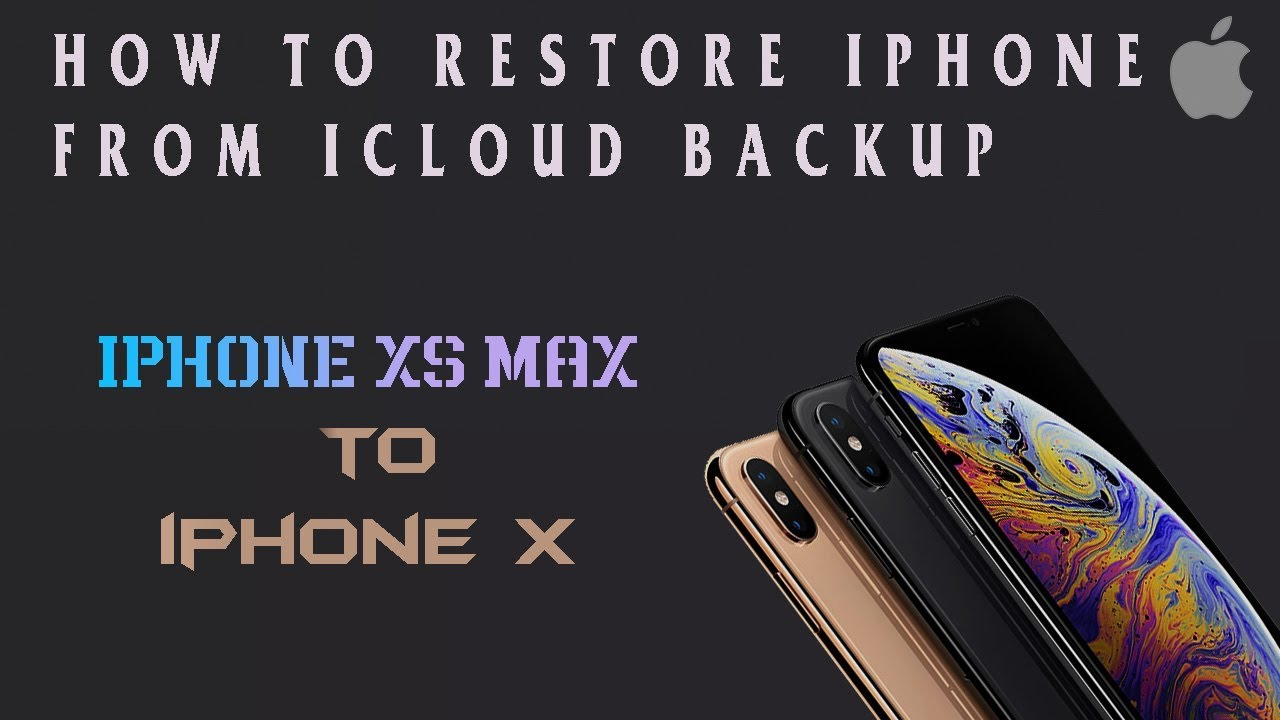 How To Restore Iphone From Icloud Backup | Restore Iphone From Itunes  Backup | xs max