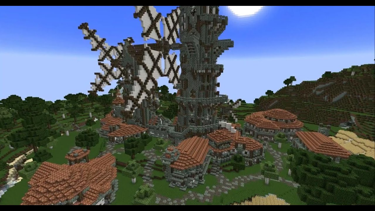 Minecraft Timelapse - The Sister Windmills - YouTube