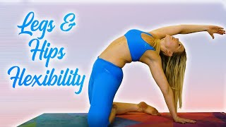 Stretches for Flexibility, Legs & Hips Dynamic Stretching Routine, Perfect for Leg Day, 20 Minutes