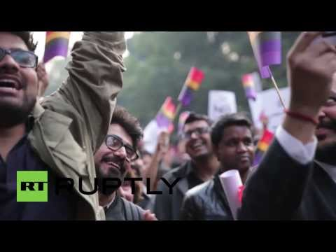 India: Activists Mock The Criminalisation Of Gay Sex