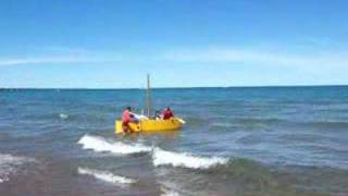 Homemade Wooden Boat Adventure
