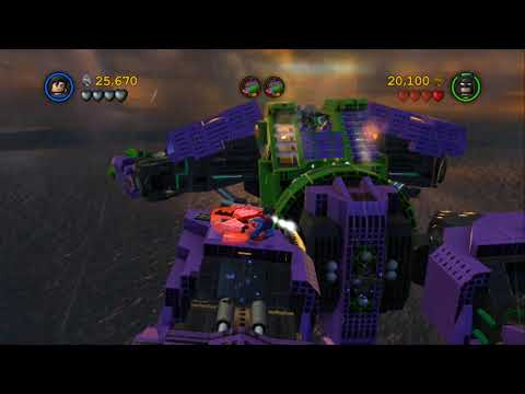 LEGO Batman 2 DC Super Heroes Walkthrough - Part 8 - Down to Earth (Wii U, Xbox 360, PS3)