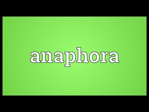 Anaphora Meaning