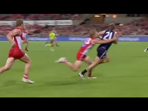 Dane Rampe's goal saving tackle on Michael Barlow, R8 2013