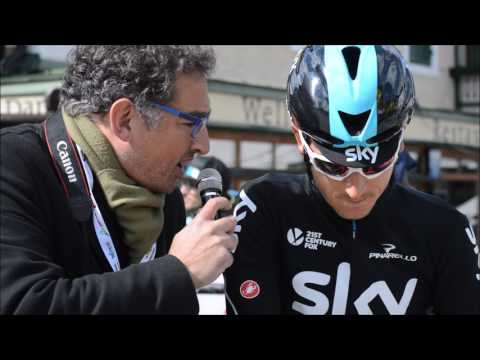 Geraint Thomas at Tour of the Alps stage 3 eve