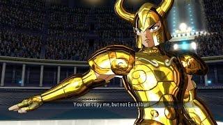 Saint Seiya Soldier's Soul: Capricorn Shura Gold Cloth Moveset Gameplay [PS4] (English)