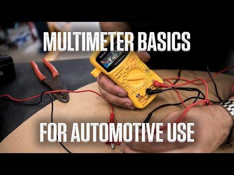 DIY   Multimeter basics for automotive use