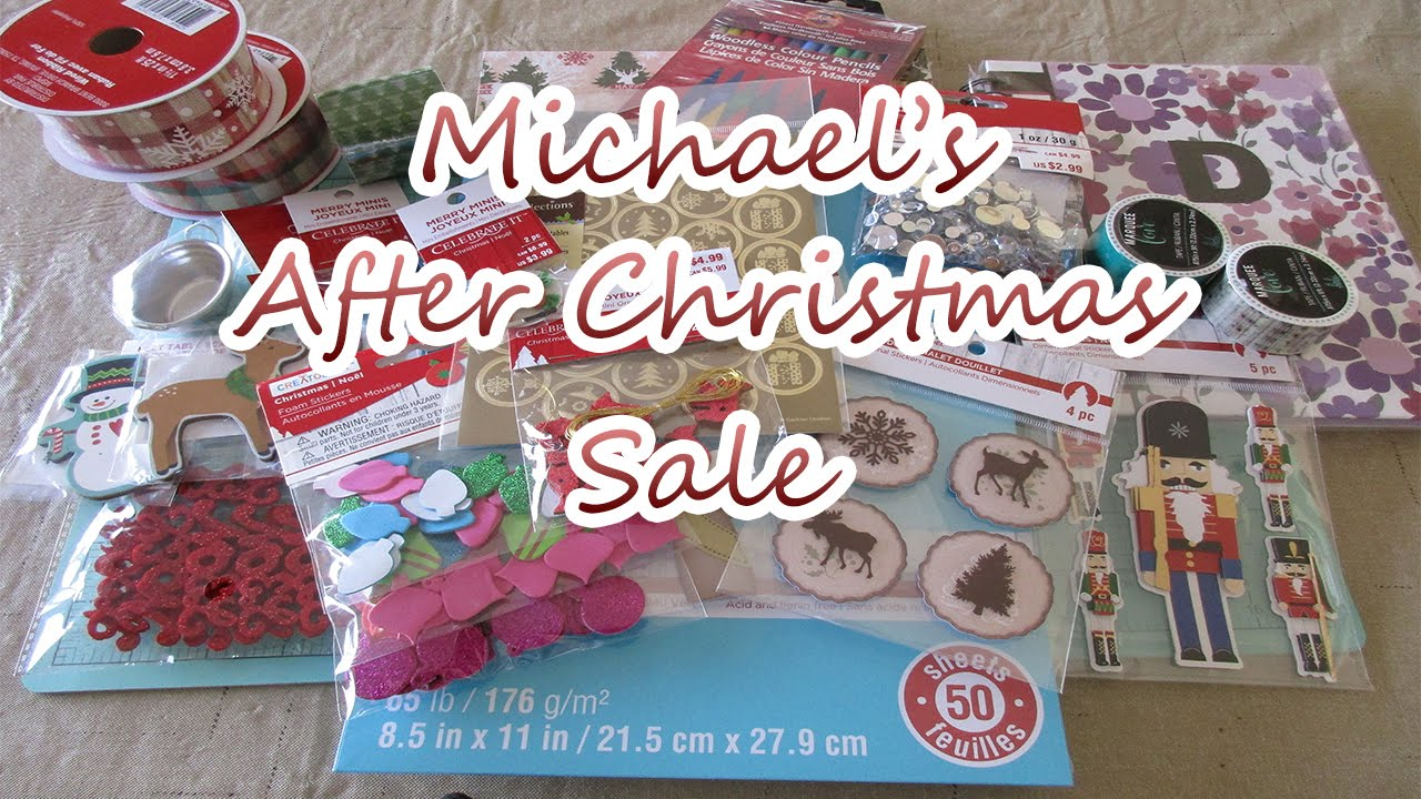 Scrapbooking Haul: Michael's After Christmas Sales & Clearance ...